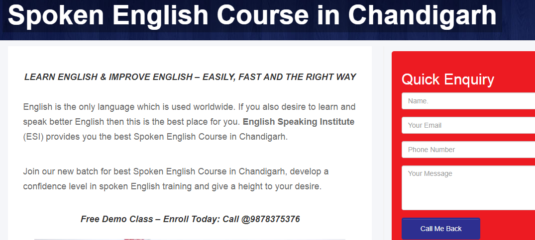 Spoken English Classes in Chandigarh - ESI