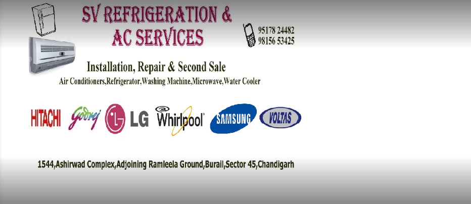 SV Refrigeration and AC Services Chandigarh
